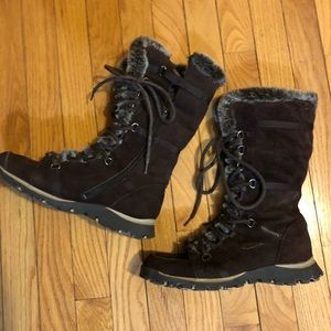 Sketchers boots brown fur lining snow boots 7.5